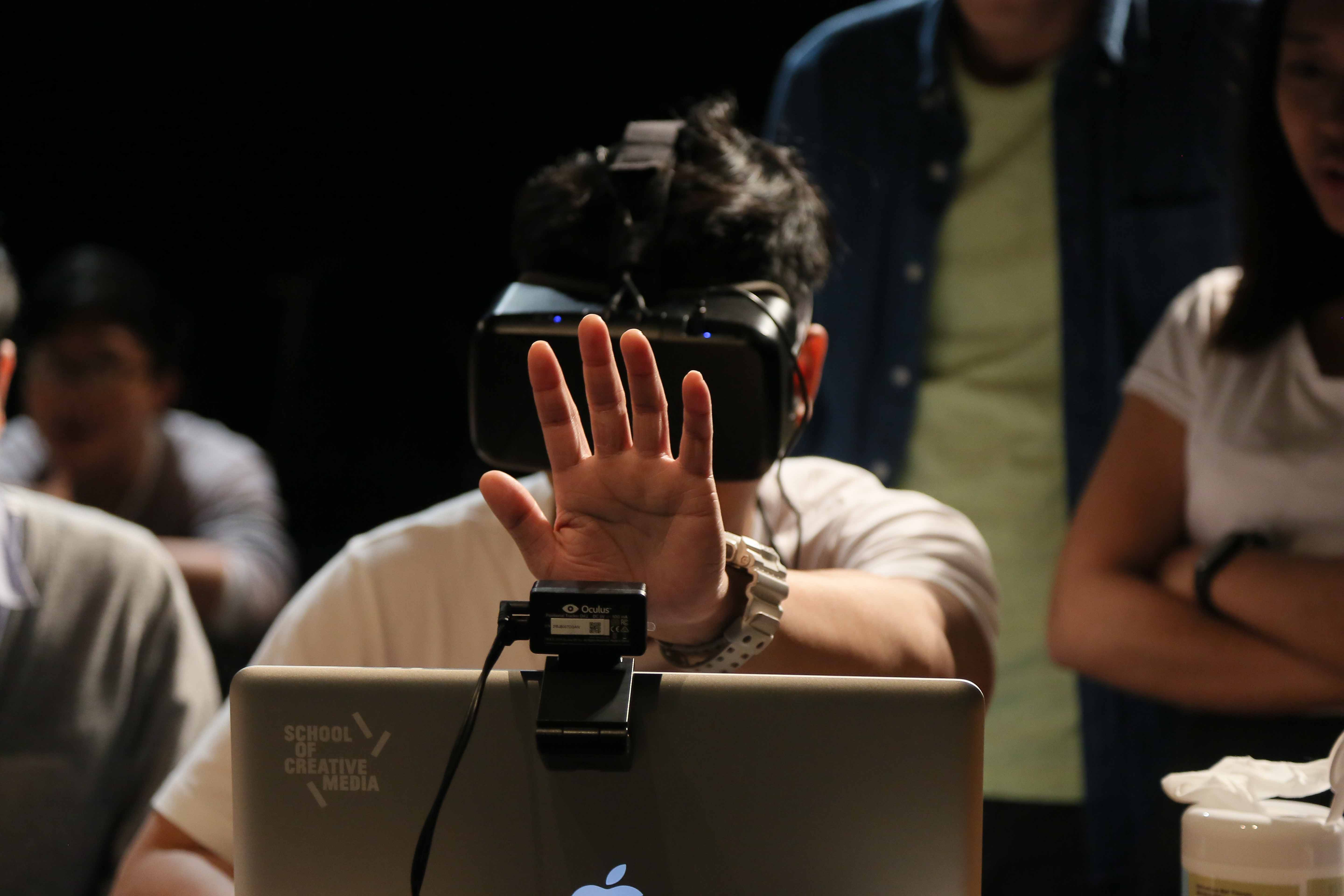 With Leapmotion controller, a sensor following movements of fingers, the player had to make physical response to the game.