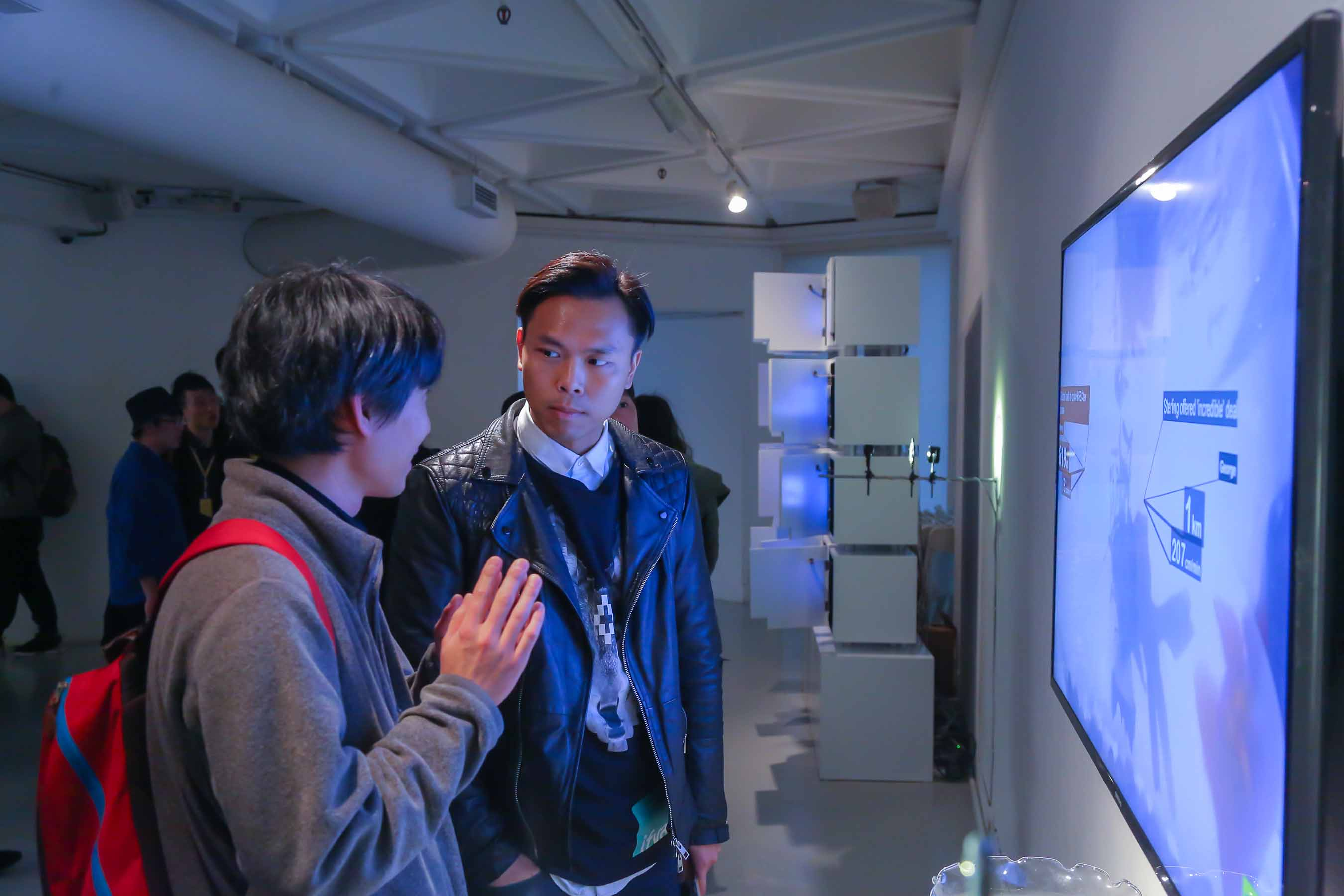 The finalists Yuto Hasebe and Samuel Yip participated in one of the finalist works, <i>Surveillance</i>